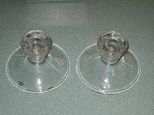 2 Avon Hummingbird Crystal Candle Holders