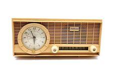 Rare Vintage Travler Tube Radio Clock Receiver Yellow ML-245 63C301