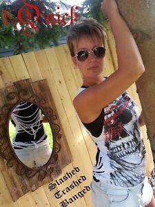 Medium Skull Party 1980's Style Rocker tShirt Slashed Trashed Banged out Cut up