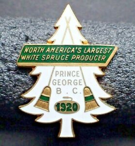 RARE Curling Pin - N. America's Largest White Spruce Producer Prince George 1920