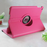 360 Rotating Stand Leather Wake&Sleep Case Cover iPad 2 3 4/Mini 1 2 3/Air/Nexus