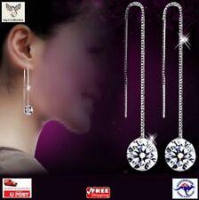 Zircon Topaz Beautiful Elegant Drop Dangle Chain Earrings Cheap Women [A1Q~B30]
