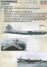 Print Scale 1/72 Boeing B-29 Superfortress Part 1 # 72271