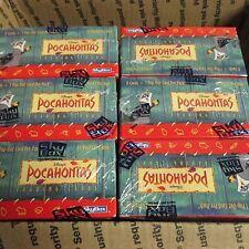 6 BOX LOT + 36 packs Disney Pocahontas Trading Card Box Skybox