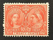 CANADA  Scott #59, 1897 20¢ vermilion  Queen Victoria Jubilee VF bright