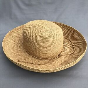 Helen Kaminski Australia 100% Raffia Straw Hat, Excellent Condition.