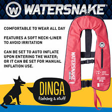 Watersnake Level 150 Deluxe Auto / Manual Inflatable PFD- Red / Black