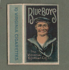 Old EMPTY cigarette packet RARE BLUE BOYS Royal Navy White Ensign pretty hul#277