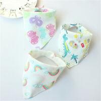 Coton nourrisson bébé bavoirs nourrir salive serviette triangle cute écharpe