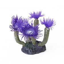 Anémone de Mer Corail Artificielle Ornement Décoration Aquarium Violet