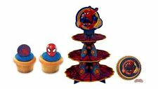 NEW ULTIMATE SPIDERMAN CUPCAKE STAND COMBO