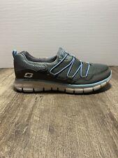 NEW Skechers Sport Women's Loving Life Memory Foam Sneaker Sz 8.5 Charcoal/Blue