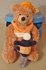 STEIFF FLYNN & LOTTO TEDDY BEAR DRILL & TRUNK NWT