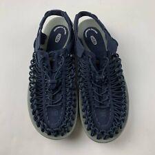 Keen UNEEK Men US 13 Navy Blue Sandal Bungee Cord Stretch Sport Outdoor Shoe