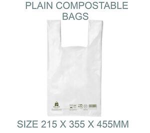 Plain Compostable Bag Doggy Poo Bag Plain Poo Waste Bags Biodegradable Doggy Poo