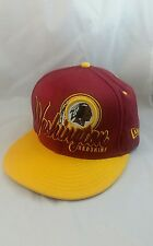Vintage Washington Redskins Hat Snapback Cap NFL Logo Red Gold Football