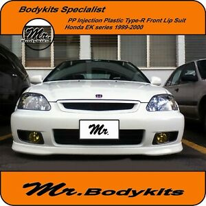 PP Plastic Type-R Front Lip Suit Honda Civic EK Series 99-00 Coupe/Hatch/4 Door