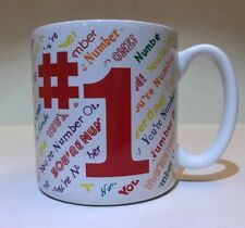 1988 Flowers Inc Balloons Mug You're Number One #1 White Multi Color