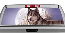 Truck Rear Window Decal Graphic [Wolves / Watchful Pause I] 20x65in DC55001