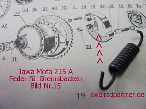 Feder Bremsbacken Paar Jawa 215 A Mofa