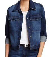 Black Orchid Womens Jacket Blue Size Small S Denim Pocket-Front Button $140 #583