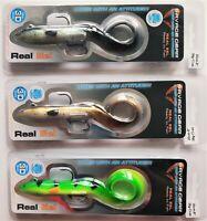 3pcs! SAVAGE GEAR Real Eel Ready to Fish 20cm BlackGreenP, Olive Pearl&Firetiger