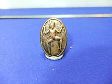 vtg badge girl guides brownie pixie sprite early brass version baden powell