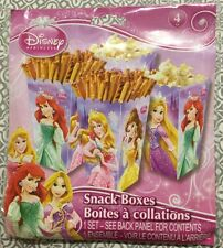 DISNEY PRINCESS 4pack SNACK BOXES popcorn Pretzels Candies Party Supply