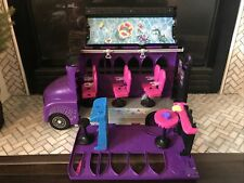 Monster High Purple & Black Deluxe Fold Out Bus & Accessories
