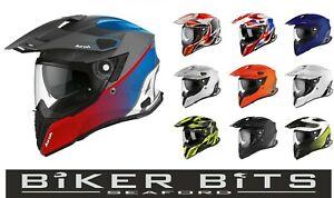 AIROH Commander 2020 Adventure Sun Visor Motorcycle Pinlock Helmet/Camera Mount