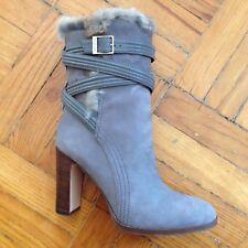 Louise Et Cie - Ynez Nubuck Rabbit Fur Boots - Size 10