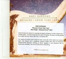 (DP561) Andy Burrows, Because I Know That I Can - 2012 DJ CD