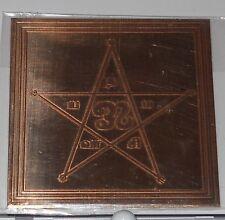 Shiva Nama Yantra - Holy Names of Lord Shiva - Energized - Pure Copper - Aghori