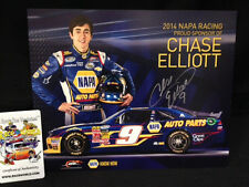 Chase Elliott #9 NAPA 2014 Autographed Signed 8x10 Post Hero Card Jr Motorsports