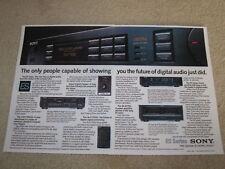 Sony ES Ad, 2 pgs, TA-N77es,TA-E77esd, 705esd CD, 2 pg