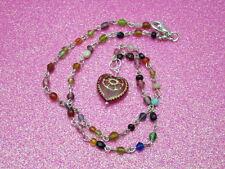 Handmade Glass Heart Necklace