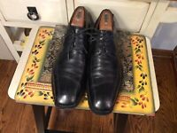 Johnston & Murphy Men's Oxford Shoes Size 11M Black leather Made in Italy