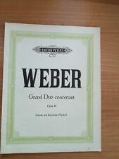 Noten. Weber. Grand Duo concertant op. 48. Partitur.