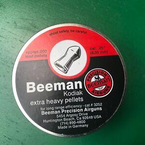 Beeman KODIAK in .25 cal 200 count tin NOS air rifle pellets