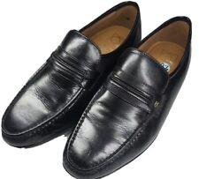 French Shriner Men's 9.5M Dayton Black Leather Loafers 20030