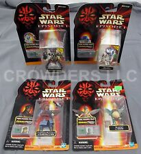 Star Wars Episode 1 Destroyer Droid Watto R2D2 & Captain Panaka CommTech Figures