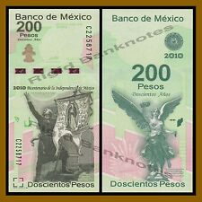 Mexico 200 Pesos, 2008 (2010) P-129 Commemorative 100 Year independence Unc