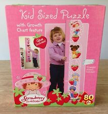 Strawberry Shortcake Growth Chart Puzzle 80 Pieces Rose Art Wall Decor