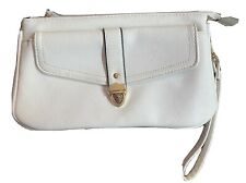WHITE LEATHER WRISTLET BAG NEW PARTY CLUB HOLIDAY SUMMER IBIZA MARBS PRETTY GLAM