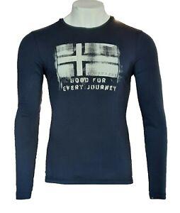 Napapijri Langarmshirt Longsleeves Shirt Dunkelblau Gr.S Brand Neu Baumwolle