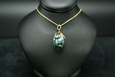 "Faberge Egg Pendant Enamel Guilloche Swarofski Crystals 18"" Gold Chain Gift Box"