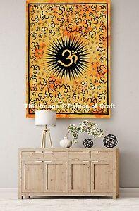 Indian Om Mandala Meditation Wall Hanging Tapestry Cotton Yoga Mat Poster Gypsy