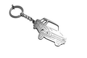 Stainless Steel Keychain 3D Car Body Lase Cut Key Ring fit ZAZ 968