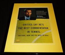 John McEnroe 1997 US Open on USA Framed 11x14 ORIGINAL Advertisement