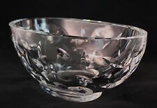 "Tiffany Fine Crystal Centerpiece Large Vase 13"" Long  ~ STUNNING!!!"